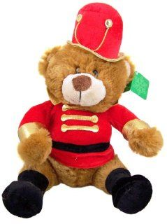 Gift for Her Christmas Parade Marching Band Teddy Bear Red Gold Uniform with Top Hat Stuffed Animal Plush Toy Toys & Games