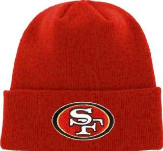 San Francisco 49ers NFL Team Apparel Knit Beanie OSFA Hat Cap   Team Colors NEW  Sports & Outdoors