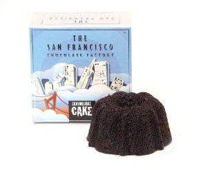 San Francisco Chocolate Factory Earthquake Cake, Vodka Infused Chocolate Cake, 4 Ounce Boxes (Pack of 4)  Grocery & Gourmet Food