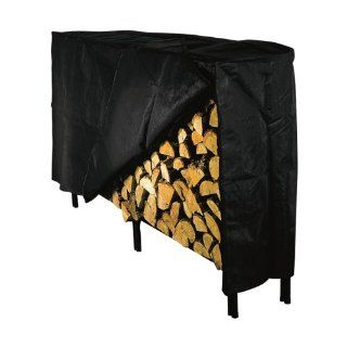 "Shelter Log Rack HD Vinyl Black Cover 90"" L x 20"" W x 38"" H SLRC L Kitchen & Dining"