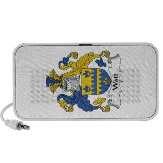 Watt Family Crest Notebook Speaker