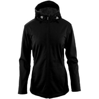 White Sierra Women's Full Moon Hooded Softshell Jacket (Black, Medium) Sports & Outdoors