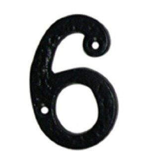 "House Numbers Black Wrought Iron, #6 & 9  4"" high  15985"