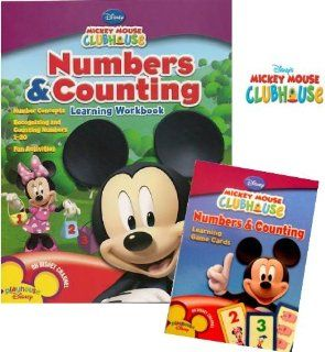 Mickey Mouse Clubhouse Numbers and Counting Workbook & Flash Cards Set Toys & Games