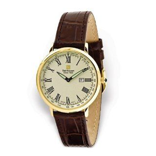 Mens Yellow Dial Leather Band Swiss Quartz Watch by Steinhausen, Best Quality Free Gift Box Satisfaction Guaranteed at  Men's Watch store.