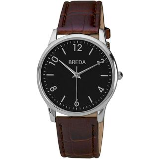 Breda Men's 'Andrew' Classic Black Dial Leather Band Watch Breda Men's More Brands Watches