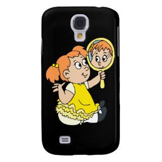 red haired girl yellow dress galaxy s4 cover