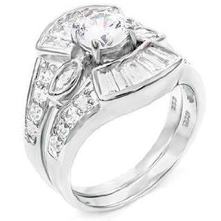 Legendary Sterling Silver Wedding Ring Set Jewelry