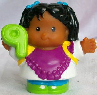 Fisher Price Little People School Girl 9 Number Hawaiian Girl Replacement Doll Toy Toys & Games