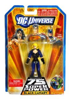 "Mattel Year 2009 DC Universe Infinite Heroes ""DC Comics 75 Years of Super Power"" Series 4 Inch Tall Action Figure   BLACK CANARY with Collector Button (P1981) Toys & Games"