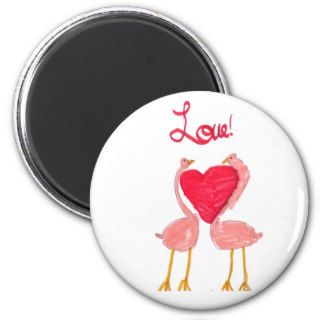 Flamingo Love Fridge Magnets