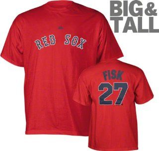 Boston Red Sox Vintage Majestic Carlton Fisk Big Jersey T Shirt (6X)  Sports Related Merchandise  Sports & Outdoors