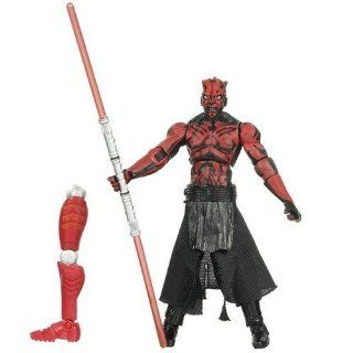 Star Wars Year 2009 Legacy Collection Droid Factory Series 4 Inch Tall Action Figure   BD05 DARTH MAUL with Red Double Bladed Lightsaber and Droid BG J38's Left Arm Toys & Games