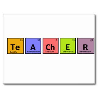 Periodic Table Teacher Appreciation Post Card