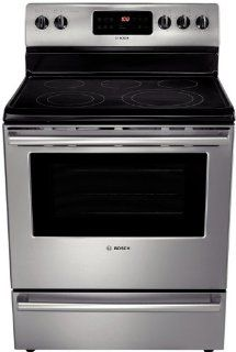 "Bosch HES5053U 500 30"" Stainless Steel Electric Smoothtop Range   Convection Appliances"