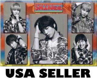 Shinee 5 panel b&w collage POSTER 34 x 23.5 Taemin Onew Korean boy band (sent FROM USA in PVC pipe)  Prints