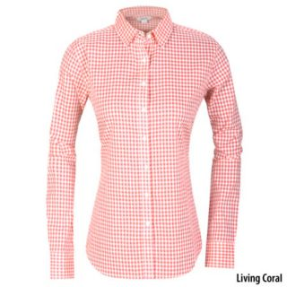 Guide Series Womens Gingham Tissue Long Sleeve Woven Shirt 699936