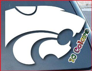 "Kansas State Wildcats Car Window Vinyl Decal Sticker 4"" Wide (Color White)"