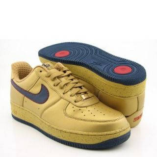 NIKE Air Force 1 Low Premium Gold Shoes Mens 18 Shoes