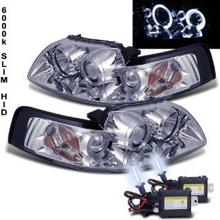 6000K Slim Xenon HID Kit+99 04 Ford Mustang Halo LED Projector Head Lights Automotive