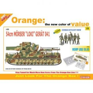 "Cyber Hobby Models 1/35 Super Heavy Self Propelled Mortar 54cm M�rser ""Loki"" Ger�t 041 + German Artillery Crew Toys & Games"