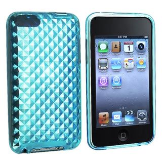Eforcity Clear Blue Diamond TPU Rubber Case for iPod Touch Gen 2/3 Eforcity Cases