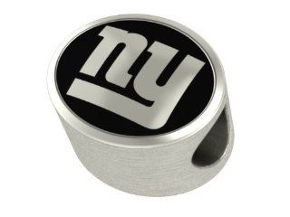 New York Giants NFL Jewelry and Bead Fits Most European Style Bracelets. High Quality Bead in Stock for Immediate Shipping Bead Charms Jewelry