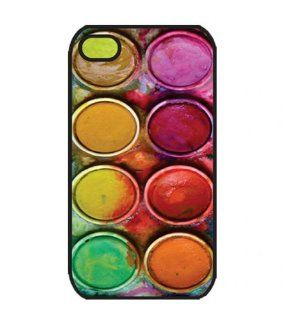 Wewe Water Color Paintset2 Iphone 4 4s Case Cover, Cell Phone Hard Case with Unique Design Cell Phones & Accessories