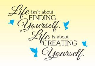 Life isn't about finding yourself life is about creating yourself Vinyl Wall Decals Quotes Sayings Words Art Decor Lettering Vinyl Wall Art Inspirational Uplifting   Wall Decor Stickers