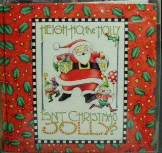 Mary Engelbreit Set of 12 Mini Note Cards Gift Enclosures & 12 Envelopes Heigh Ho The Holly Isn't Christmas Jolly? Dancing Santa Claus & Elves Theme  Notepads