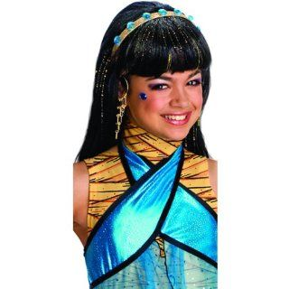 Lets Party By Rubies Costumes Monster High   Cleo de Nile Wig (Child) / Black   One Size  Other Products