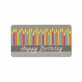 Happy Birthday Candles Personalized Address Label