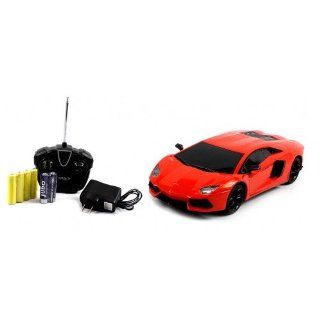 Electric Full Function Diecast Heavy Weight Metal Lamborghini Aventador RTR RC Car (Colors May Vary) Remote Control High Quality RC Car Toys & Games