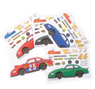 ~ 12 ~ Make a Race Car Sticker Sheets ~ New Toys & Games