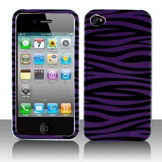 Cuffu   Purple Zebra   Apple iPhone 4 Case Cover + Screen Protector (Universal 8 cm x 6 cm Customize your own LCD protector Great for any electronic device with LCD display) Makes Perfect Gift In Only One LOWEST Shipping Rate $2.98   Goes With Everyday S