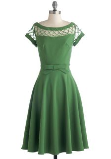 Tatyana/Bettie Page With Only a Wink Dress in Peridot  Mod Retro Vintage Dresses