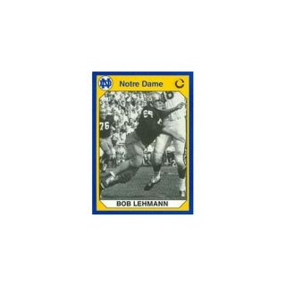 Autograph Warehouse 91369 Bob Lehmann Football Card Notre Dame 1990 Collegiate Collection No.  108