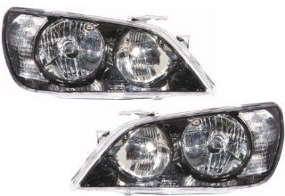 Lexus IS300 Replacement Headlight Unit non HID, Black Bezel   1 Pair Automotive