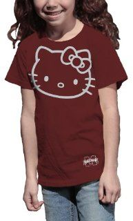 NCAA Mississippi State Bulldogs Hello Kitty Inverse Girls' Crew Tee Shirt  Sports Fan T Shirts  Sports & Outdoors