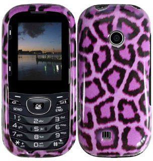 Purple Leopard Hard Case Cover for LG Cosmos 2 VN251 Cell Phones & Accessories