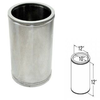 Shop 10'' x 12'' DuraTech Stainless Steel Chimney Pipe   99101SS at the  Home D�cor Store