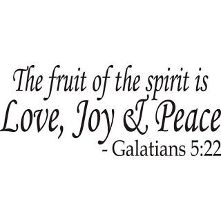 The Fruit Of The Spirit Bible Verse Vinyl Wall Art Quote