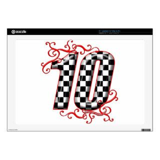 auto racing number 10 decals for laptops