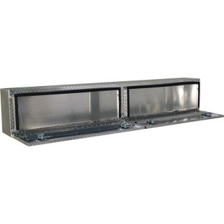 Locking Aluminum Top-Mount Truck Box — 90in. x 12in. x 16in. Size, 2-Doors  Top Mount Boxes