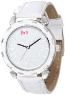 Hello Kitty Women's H3WL1038WT Boyfriend Valentine Kitty Case White Strap Watch Watches