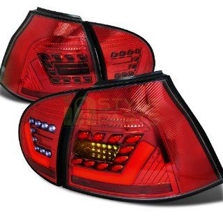 2005 2006 2007 2008 2009 Volkswagen Golf GTI V LED Tail Lights Red Automotive