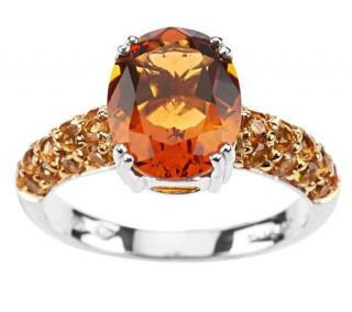 2.50 ct tw Palmeira & Yellow Citrine Ring, Sterling —