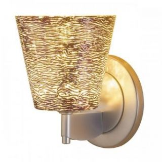 Bling I Diamond LED Wall Sconce w Silver Textured Glass (Bronze)
