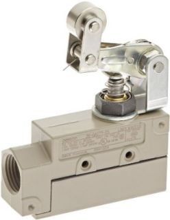 Omron ZE QA277 2S General Purpose Enclose Switch, High Breaking Capacity and Durability, One Way Action Roller Arm Lever, Single Pole Double Throw AC, Side Mounting, 1/2 14NPSM Conduit Size Electronic Component Limit Switches