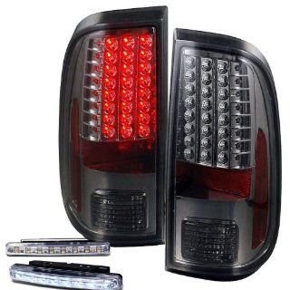 2008 2010 FORD F250 F350 SD REAR BRAKE TAIL LIGHTS SMOKED LEN+LED BUMPER RUNNING Automotive